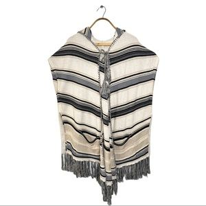 Anthropologie Moth Poncho Hooded Sweater